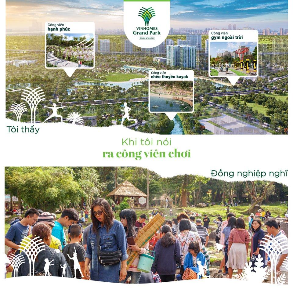 """Phá bỏ giới hạn """"Công viên chật kín"""": Bạn sống tại Đại công viên ven sông 36ha, hòa mình vào miền thiên nhiên xanh ngát với không gian ngập tràn sinh thái."""