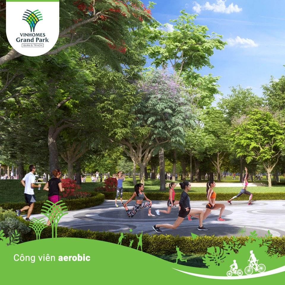 Công viên Aerobic khuôn viên của sự sôi động, trẻ trung nhiệt huyết.
