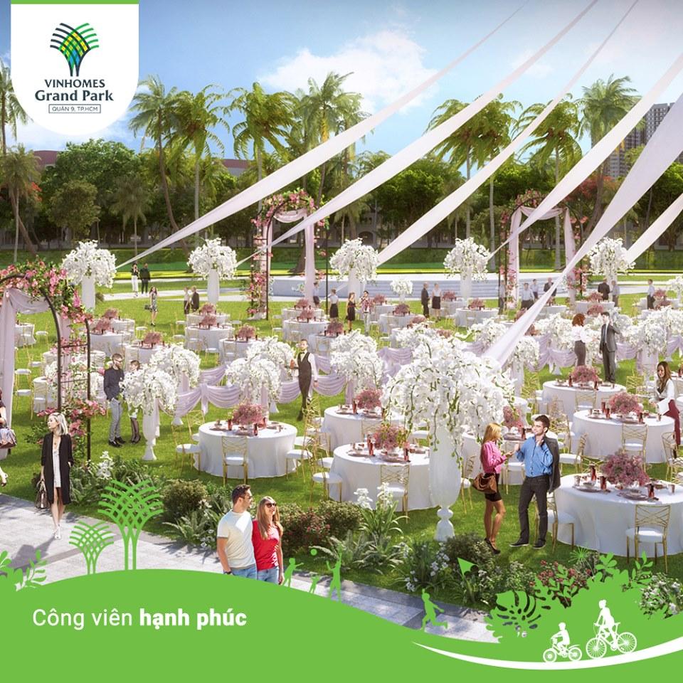 Công viên hạnh phúc địa điểm tổ chức tiệc cưới, đính hôn lãng mạn dành cho các cặp đôi.